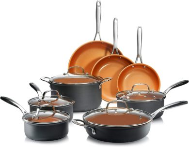 GOTHAM STEEL Cookware for Glass Top Stoves